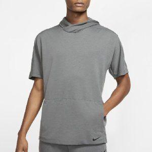 Nike Yoga Dri-fit Men Short-sleeve Pullover Hoodie